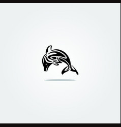 Elegant dolphins vector