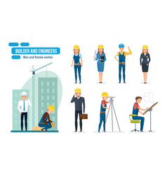 engineers workers architect repairman director vector image