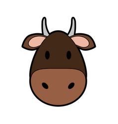 Face of cow or bull icon image vector
