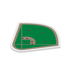 Field of play baseball isometric vector