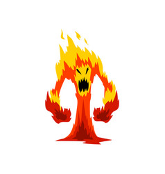 Furious fire monster fantasy mystic creature vector