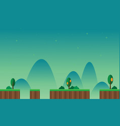 Game background scenery with mountain vector