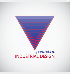 geometric industrial design logo vector image