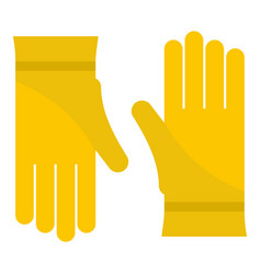 glove icon flat style vector image
