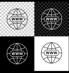 go to web icon isolated on black white and vector image