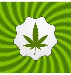 Green retro cannabis design element vector