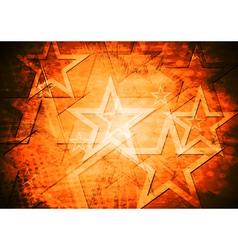 Grunge stars background vector