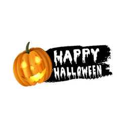 Halloween pumpkin label vector