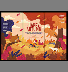 happy autumn thanksgiving banner design vector image