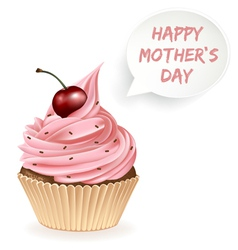 Happy Mothers Day Cupcake vector image