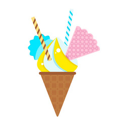 icecream with sweets vector image