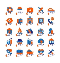 Insurance Service Icons Set vector image