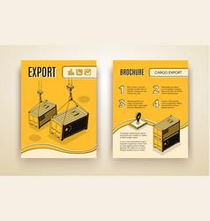International export isometric brochure vector