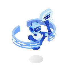 internet bot flat futuristic vector image