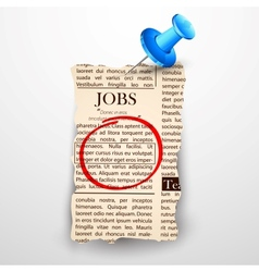 Job Classified in Newspaper vector image