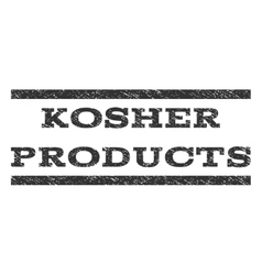 Kosher Products Watermark Stamp vector