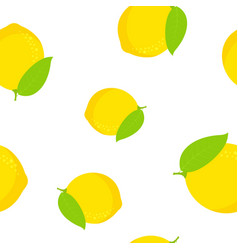 lemon seamless pattern isolated on white vector image
