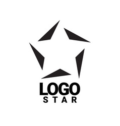 Logo star black and white creative symbol vector