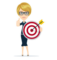 Marketing target success concept portrait vector
