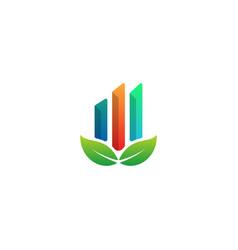 nature chart logo design info graphic symbol icon vector image
