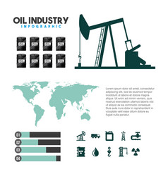 oil industry infographic extraction process vector image