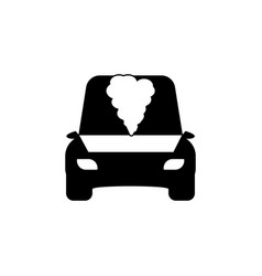 Open hood car icon vector