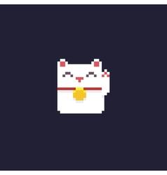 Pixel Maneki Neko vector image