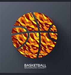 polygonal basketball background concept vector image