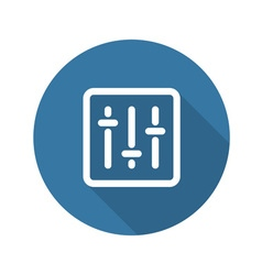 Power Slider Icon Flat Design vector
