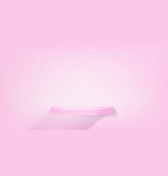 realistic 3d round podium for product vector image