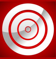 Red target icon precision efficiency effectiveness vector