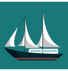 sailboat ship isolated icon vector image vector image