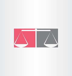 Scales of justice symbol design vector
