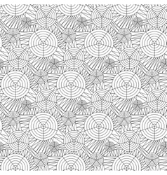 seamless background doodle drawn lines vector image