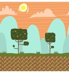 seamnless forest garden game background vector image