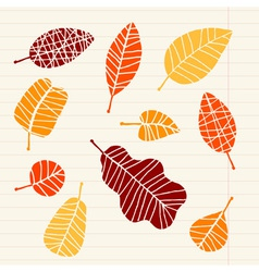 Set of leaf sketch for you design vector