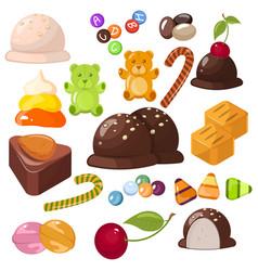 Set of top popular sweet desserts for halloween vector