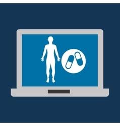 Silhouette man fitness medicine sport vector