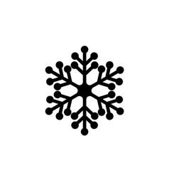 snowflake icon concept vector image