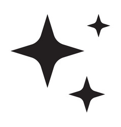 sparkles star icon on white background flat vector image