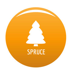 spruce tree icon orange vector image