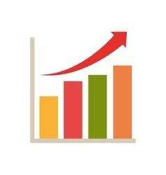 statistics bars chart vector image