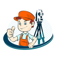 surveyor vector image