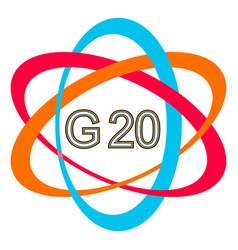 Symbol logo of the g20 summit g-20 summit vector