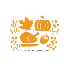 Thanksgiving autumn background vector