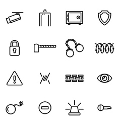 thin line icons - security vector image