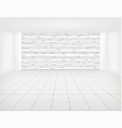 tile floor brick wall vector image
