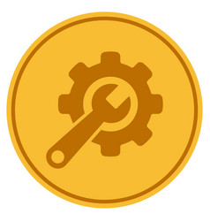 tools gold coin vector image