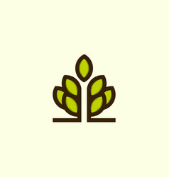 tree naturally icon business logo vector image