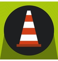 Warning cone protection icon vector